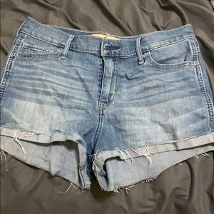 Hollister high waisted denim shorts